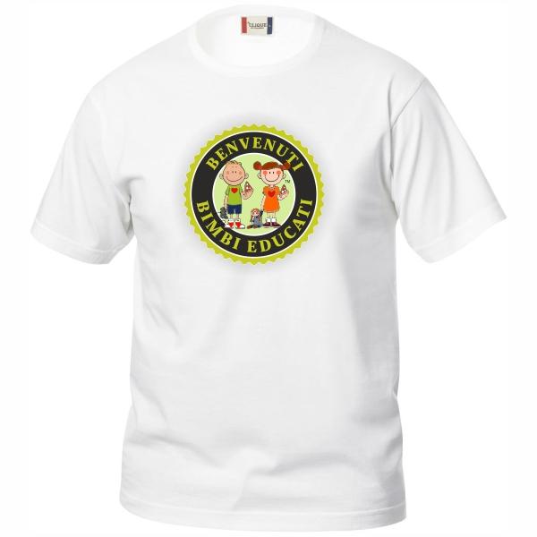 Bimbi Educati t-shirt soggetto logo grande